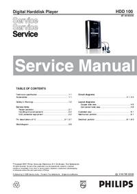 Manuale di servizio Philips HDD 100