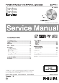 Manual de servicio Philips EXP7361