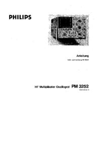Serviço e Manual do Usuário Philips PM3252