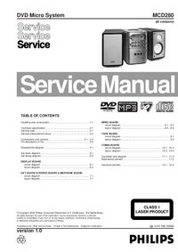 Service Manual Philips MCD280