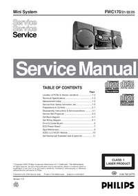 Service Manual Philips FWC170