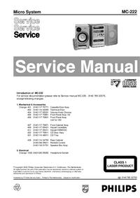 Instrukcja serwisowa Philips MC-222