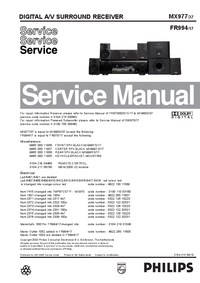 Manual de servicio Philips MX977
