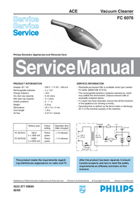 Service Manual Philips FC 6076