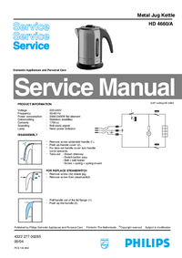 Service Manual Philips HD 4660/A