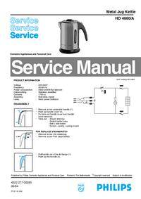 Manual de serviço Philips HD 4660/A