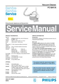 Servicehandboek Philips FC 6841/A