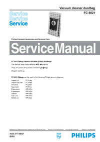 Service Manual Philips FC 8021
