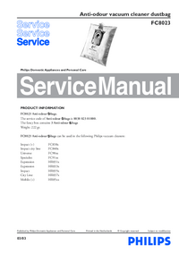 Manual de serviço Philips FC8023