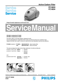 Manual de servicio Philips FC 8034