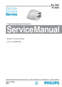 Manual de serviço Philips FC 8035
