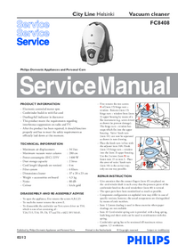 Service Manual Philips City Line Helsinki FC8408