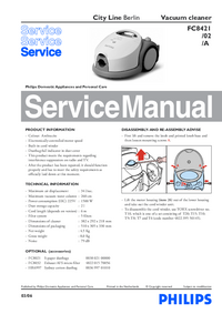 Service Manual Philips City Line Berlin FC8421