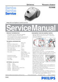 Service Manual Philips Universe FC9008