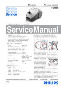 Instrukcja serwisowa Philips Universe FC9008