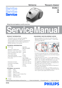 Manual de servicio Philips Universe FC9011/A