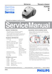 Servicehandboek Philips Universe FC9020/B