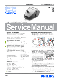 Service Manual Philips Universe FC9022/B