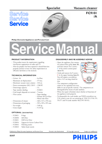 Service Manual Philips Specialist FC9101/A
