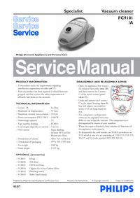 Руководство по техническому обслуживанию Philips Specialist FC9101