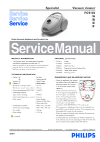 Service Manual Philips Specialist FC9102/C