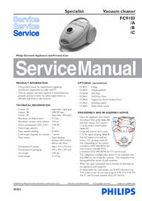 Servicehandboek Philips Specialist FC9103