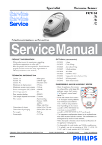 Manual de servicio Philips Specialist FC9104/B