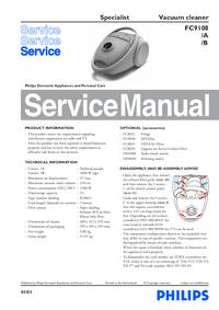 Manual de serviço Philips Specialist FC9108/A