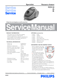 Service Manual Philips Specialist FC9110/B