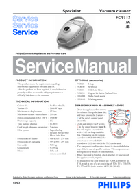 Manual de servicio Philips Specialist FC9112/A