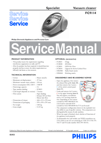 Service Manual Philips Specialist FC9114