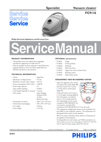 Service Manual Philips Specialist FC9116