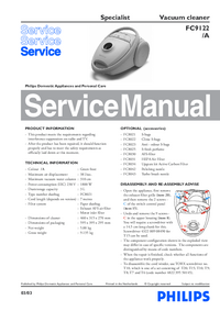 Manual de servicio Philips Specialist FC9122