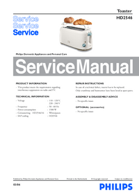 Manual de servicio Philips HD2546