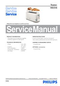 Manuale di servizio Philips HD2546