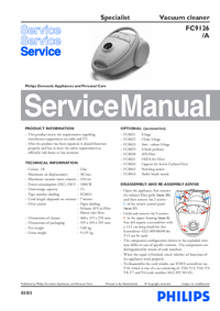 Service Manual Philips Specialist FC9126