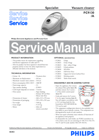 Service Manual Philips Specialist FC9130