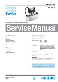 Manual de servicio Philips GC 6034
