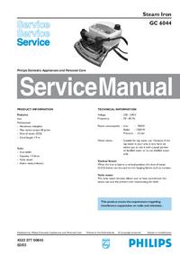 Instrukcja serwisowa Philips GC 6044