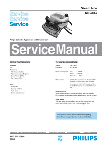 Manual de servicio Philips GC 6046