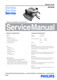 Manual de servicio Philips GC6048