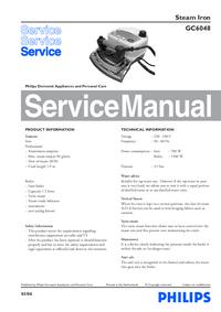 Manual de serviço Philips GC6048