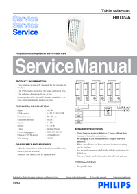 Service Manual Philips HB185/A