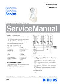 Servicehandboek Philips HB185/A