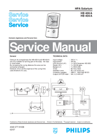 Service Manual Philips HB 400/A