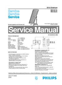 Manual de servicio Philips HB 541/A