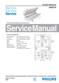 Manual de servicio Philips HB557/A
