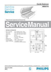 Manuale di servizio Philips HB557/A