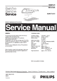 Service Manual Philips SUNStudio HB573A