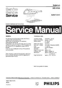 Manual de servicio Philips SUNStudio HB573A